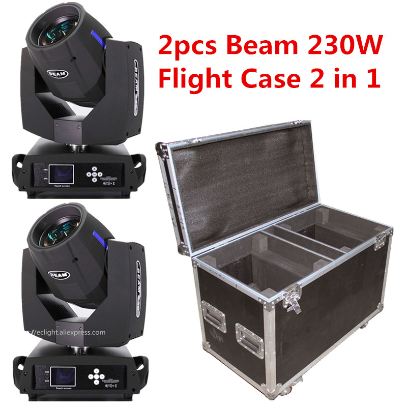 2pcs Touch Screen Sharpy beam 230 moving head with Flight case 16CH/20CH Touch Screen 7R Moving Head Stage Lighting effect стоимость