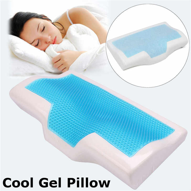 1 Pcs Memory Foam Cool Gel Pillow Summer Ice-cool Anti-snore Neck Orthopedic Sleep Pillow Cushion+Pillowcover For Home Beddings