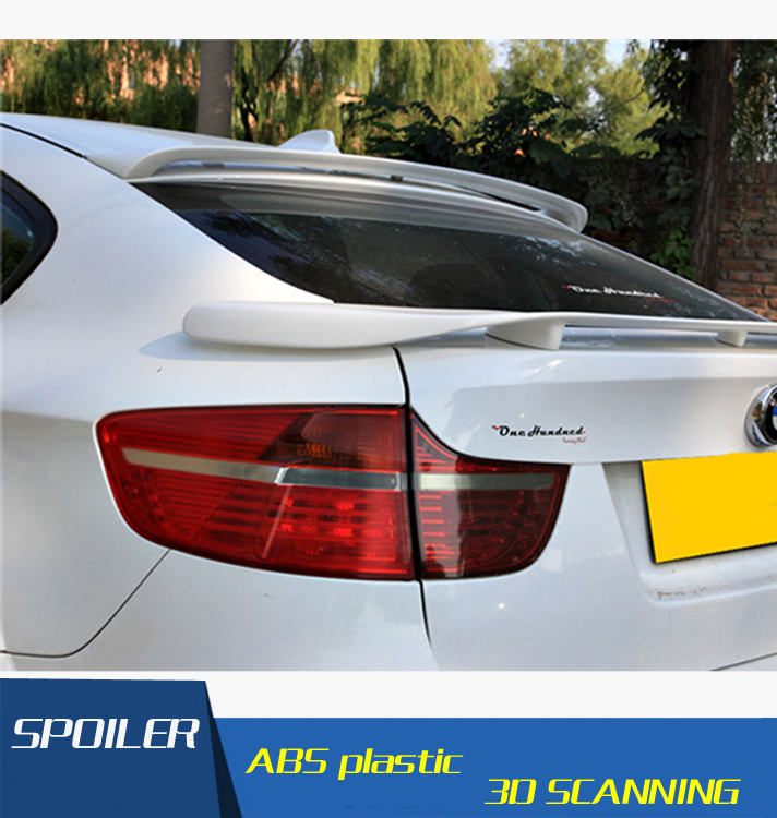 For BMW X6 F26 Roof Spoiler High Quality ABS Material Car Rear Wing Primer Color Rear Spoiler For BMW X6 Roof Spoiler 2010-2014 2007 bmw x5 spoiler
