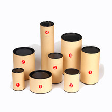 Xin Jia Yi Packaging Brown Box 2018 New Fashion Kraft Paper Gift Tube Birthday Party Tea Cookies Suitcase Paper Can Eco 5 Sizes(China)