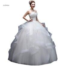 1d96fc04cbda ruthshen 100% Real Photo Princess Ball Gown Pleats Ruffles Appliques Diamond  Vestido De Noivas Ruched Tulle Wedding Dresses 2019