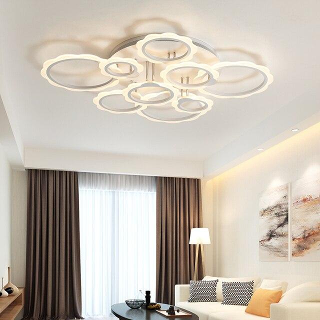 Moderno LED Lampadario Per La Camera Da Letto Acrilico Bianco 3/5/7 ...