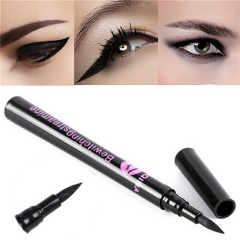 1PC Black Eyeliner Waterproof Liquid Eye Liner Pen Pencil Makeup Cosmetic Long-lasting Profissional Eyeliner Delineador de ojos