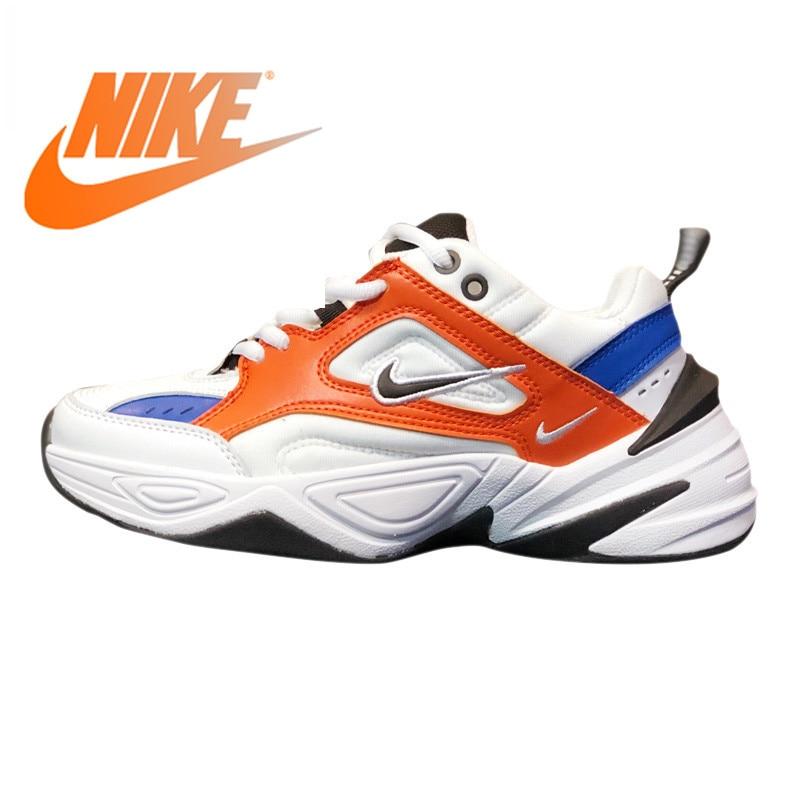 Nike Air M2K Tekno chaussures de course pour hommes et femmes blanc & Orange respirant léger résistant à l'usure antidérapant AO3108 001