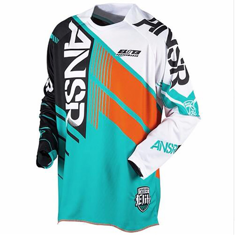 2018 MX MTB ansr ride off-road breathable fast dry mtb bmx Racing Jersey motocross motorcycle dh jersey downhill tshirt cross w