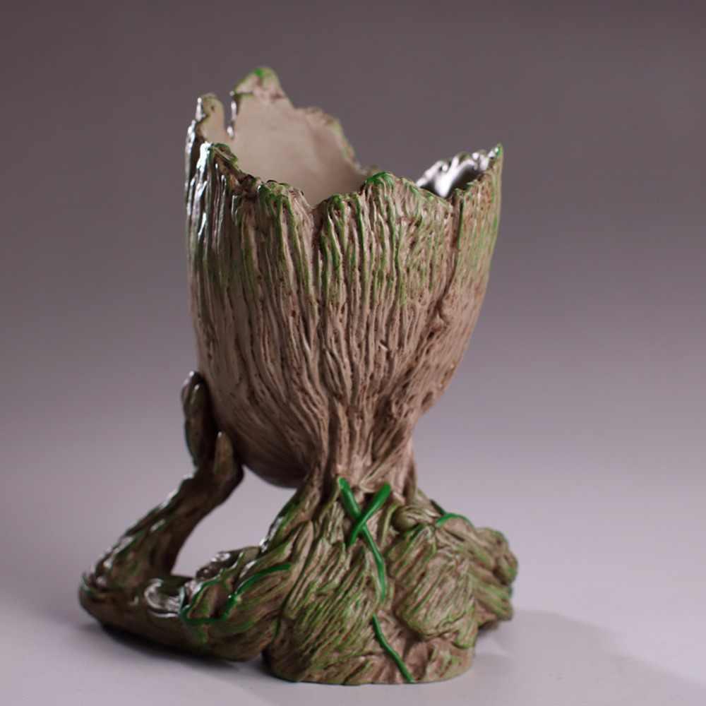 Groot 1 PC Bebê Vaso Vaso de Flores Plantador Guardians Of The Galaxy Árvore Brinquedo Figuras de Ação Brinquedo Modelo de Homem Bonito caneta Pote
