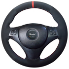 Suede leather Steering Wheel Cover for BMW E90 320i 325i 330i 335i E87 120i braid on the steering wheel capa para volante