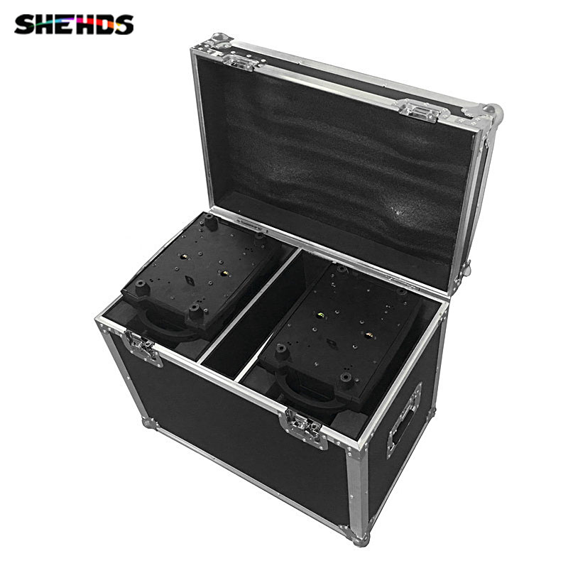 Flight Case with 2 pieces LED Zoom Wash 36x12W RGBW Color DMX Stage Touch Screen with 16 DMX Channels,SHEHDS Stage Lighting