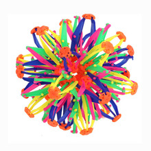 14x28cm Colorful Retractable Changeable Magic Ball Hand Catch Ball Flower Ball Kids Boys Girls Toys Fun Christmas gift