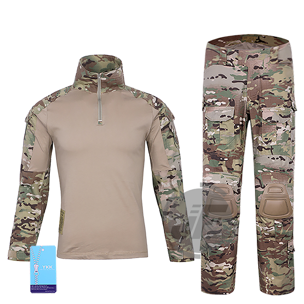 Tactical Emerson Women BDU G3 Combat Uniform Shirt&Pants Emersongear Assault Tops&Trousers + Knee Pads MultiCam d