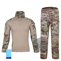 Tactical Emerson Women BDU G3 Combat Uniform Shirt&Pants Emersongear Assault Tops&Trousers + Knee Pads MultiCam