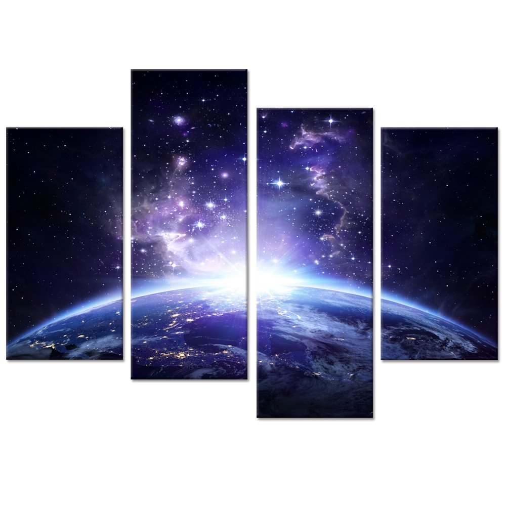Banmu Starry Night Canvas Wall Art Painting Universe