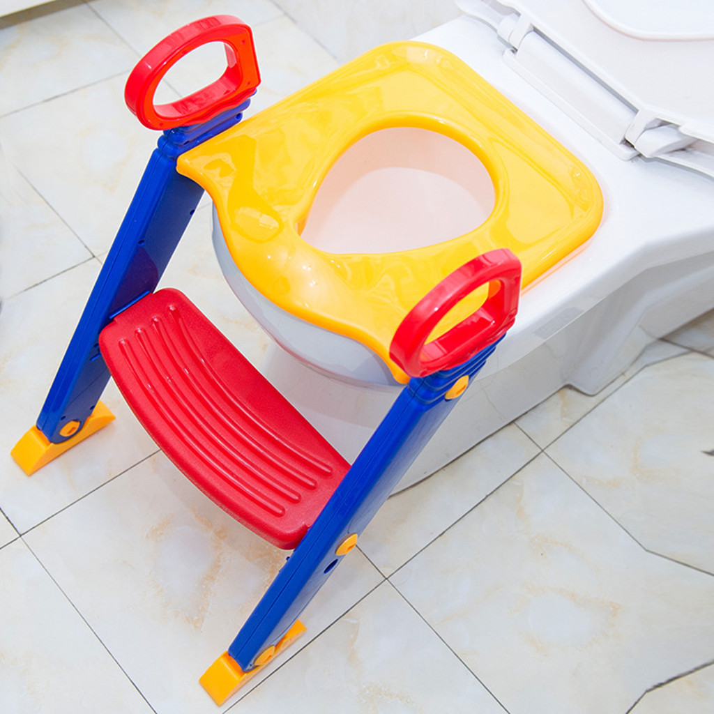 Toilet-Seat-Cover With Step-Stool-Ladder For Child Chair Orinale Bebes Assento Portatil