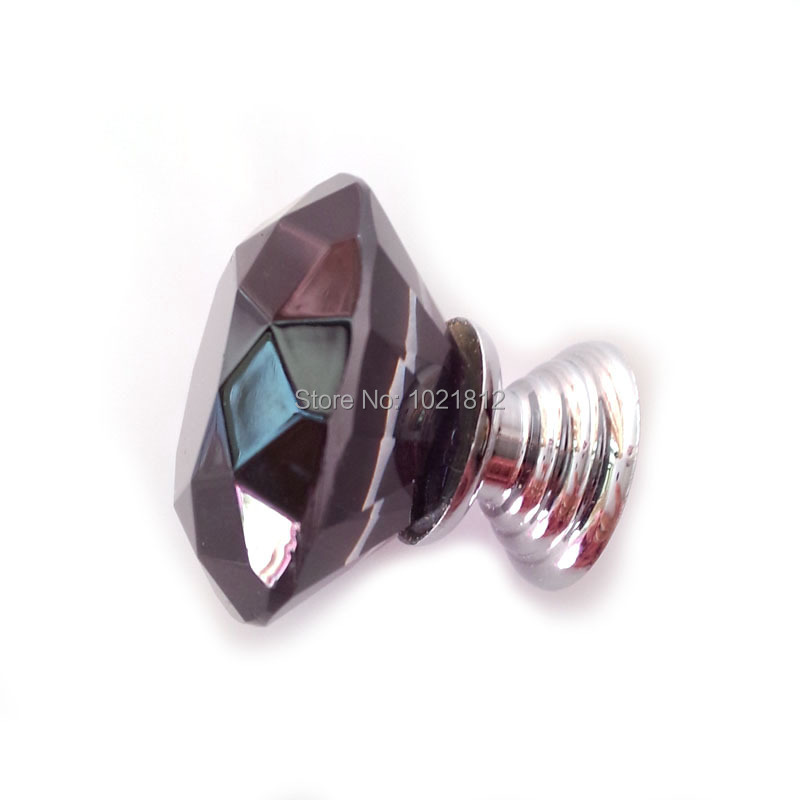 10 шт. черные 30 мм Хрустальные Ручки для шкафа Ручка для шкафа ручки шкафа шкаф для одежды ручки 30 мм Алмазный Узор