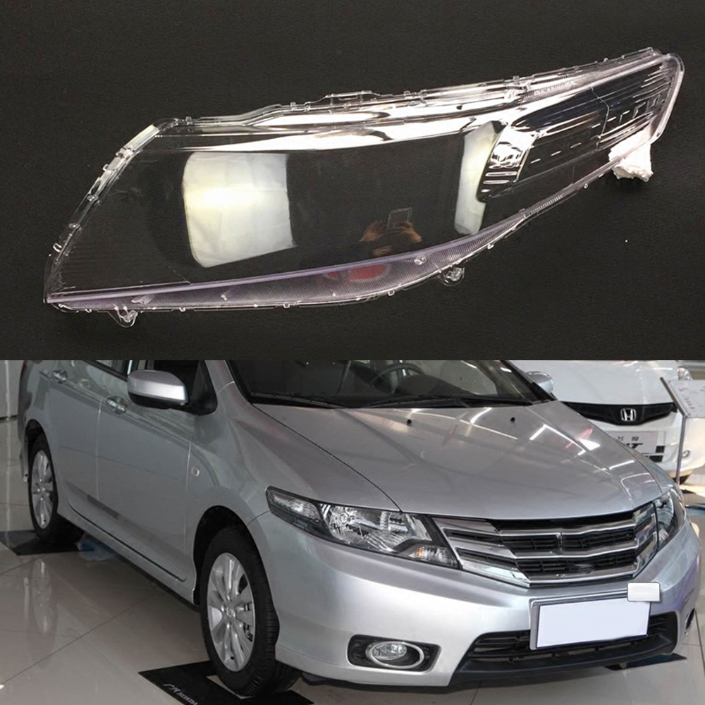 For Honda City 2009 2010 2011 2012 2013 2014 Transparent Car Headlight Headlamp Clear Lens Auto