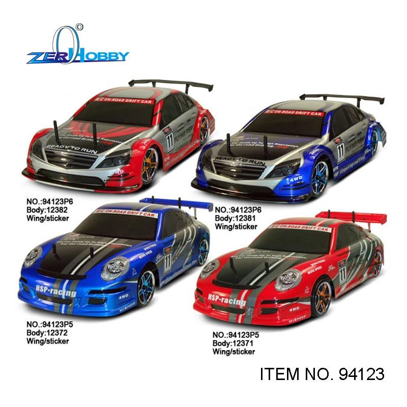 Hsp rc voiture jouets dérive voiture 1/10 échelle flying fish 4x4 sur route électrique alimenté brossé moteur batterie inclus (point no 94123)