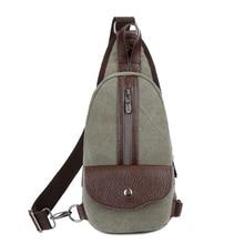 Zipper&Hasp Fashion Small Shoulder Bag Tourism Messenger Bag Canvas Chest Bags Crossbody Bag 1279