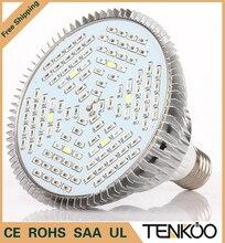 1 unids Espectro Completo Llevado Crece La Luz E27 30 W 50 W 80 W Led Lámpara Creciente de la Flor Sistema Hidropónico de Plantas de acuario Led iluminación