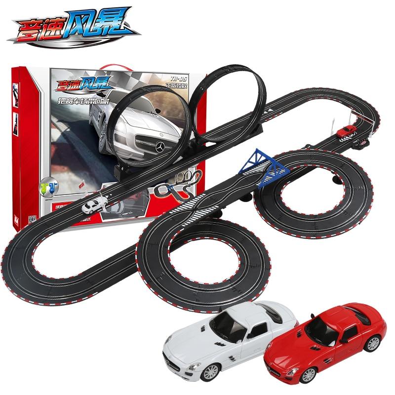 Orbit Automobile Race Child Electric Remote Control Car Track Toy Set Pa