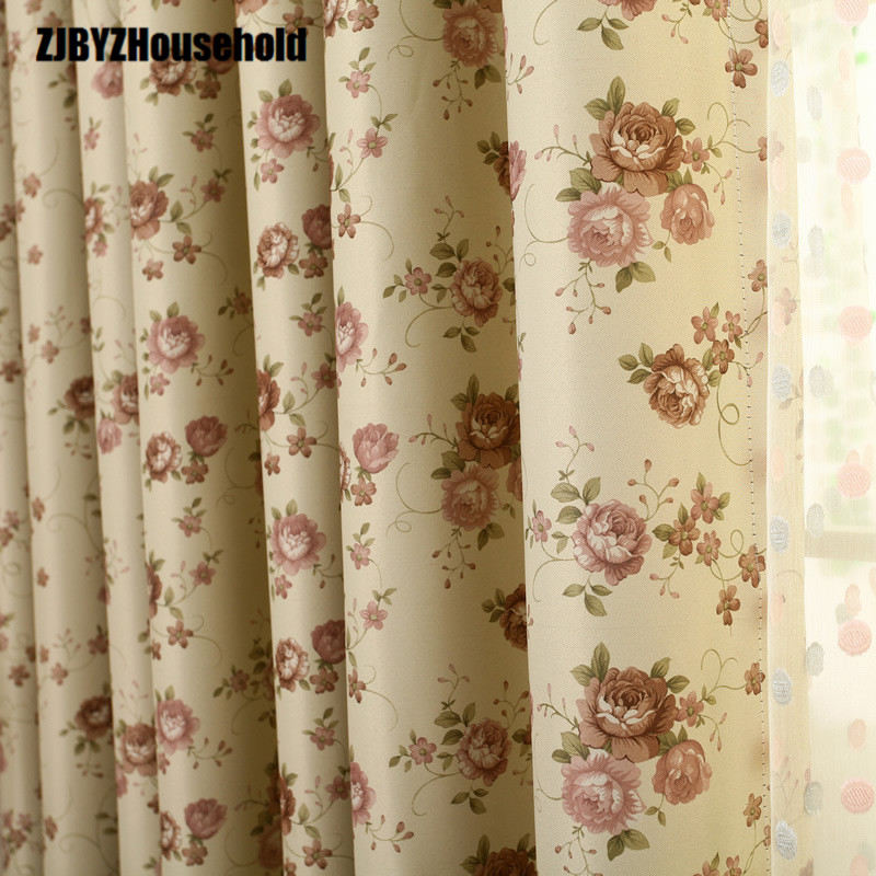 2017 Curtains New For living dining Room Bedroom two sides double screen printing high-grade European style can be processed