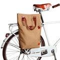 Tourbon Ретро Вощеная Холщовая Сумка для велосипеда, велосипедная сумка на заднее сиденье, коричневая велосипедная сумка, сумки для велоспорта