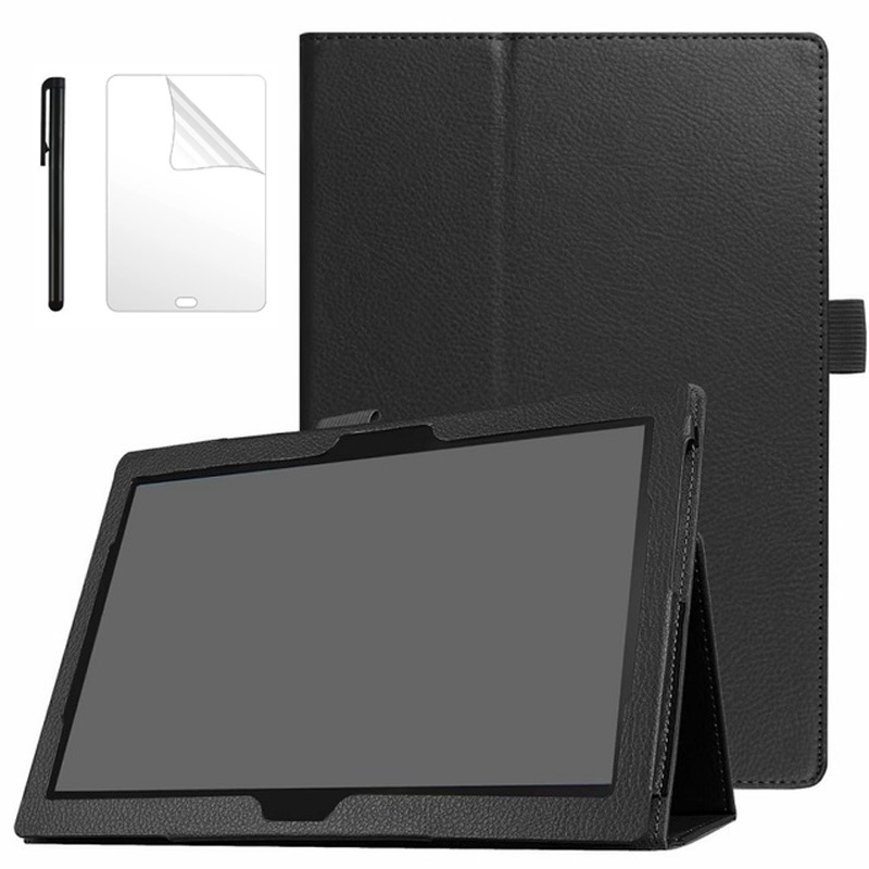 For <font><b>Lenovo</b></font> Tab M10 10.1 <font><b>TB</b></font>-X605L Slim Folding Stand Flip <font><b>Case</b></font> PU Leather Cover for <font><b>Lenovo</b></font> Tab P10 <font><b>TB</b></font>-<font><b>X705L</b></font> 10.1 inch <font><b>Case</b></font> image