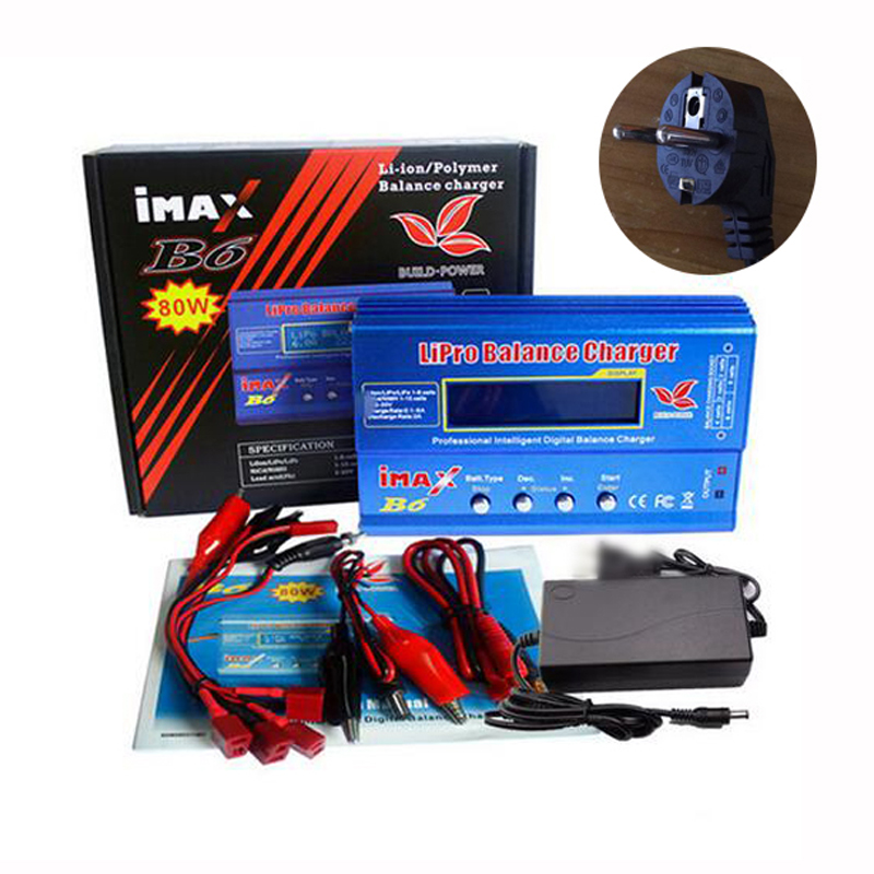 BUILD-POWER IMAX B6 Battery Lipro charger Lipro Digital Balance 12V 6A Power Adapter + Charging Cables quick charge with T Plug