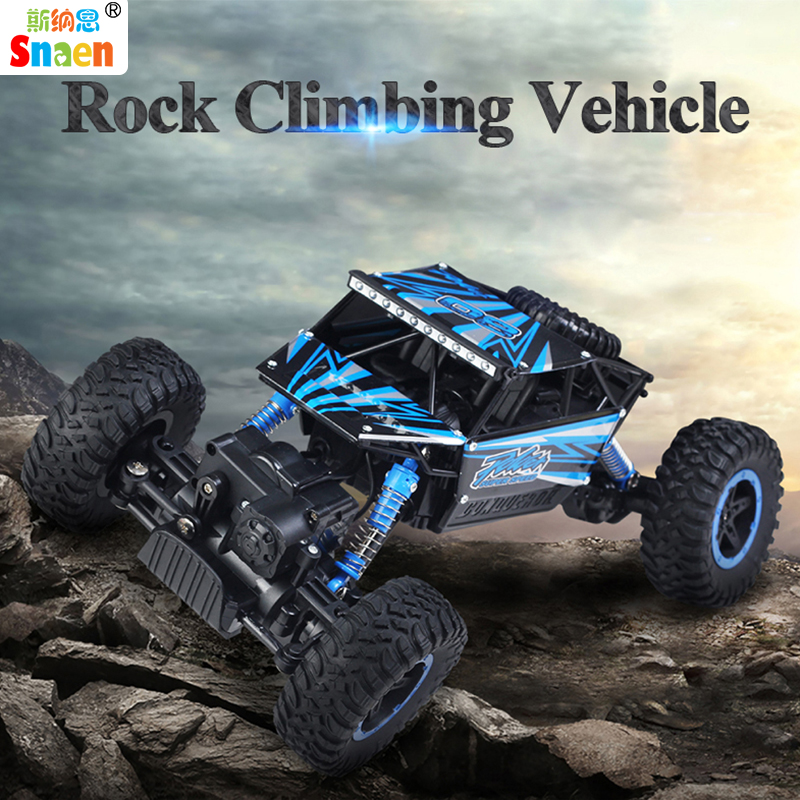 Snaen Remote Control Car 4WD Off Road RC Cars 1/18 Scale Monster Truck Crawler Vehicle 2.4Ghz High Speed Toys for Boys and Girls