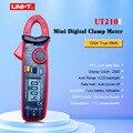 Multímetro de abrazadera Digital UNI-T Mini UT210A UT210B UT210C UT210D UT210E True RMS rango automático VFC capacitancia sin contacto