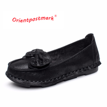 Hand Made Women Flats Shoes New Chinese Apron Pregnant Embroidered Elegant Slip On the Shoe for