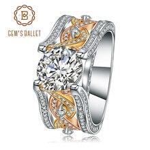 Gemma di Balletto Pure 925 Sterling Silver Wedding Anello di Fidanzamento Splendido Promessa Vintage Anello Dei Monili del Regalo per Le Donne Gioielleria Raffinata