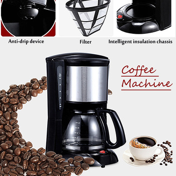 Warmtoo 2000ml Household Office American Style Drip Tea/Coffee Making Machine 12 Cups Coffee Maker 900W Temperature Control 5