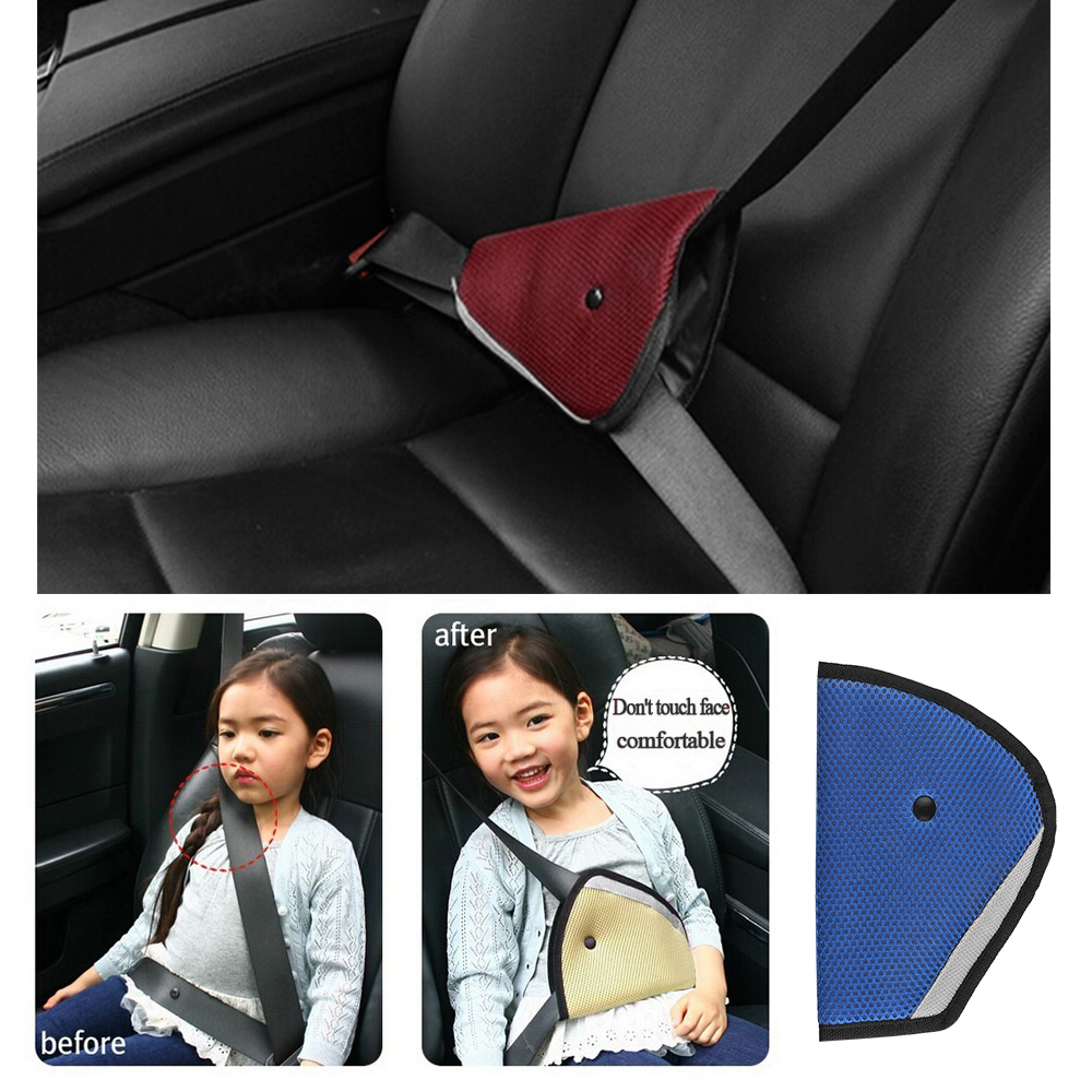 Child Car Comfortable Harness Pad Triangle Seat Belt Adjuster Fix Safety Cover
