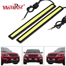hot deal buy 1pcs 17cm 14cm 12v cob led drl driving daytime running lights strip led drl bar stripes panel lamps auto driving day time lights