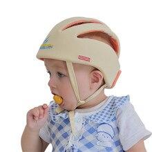 Предотвращения столкновений Защитный Шляпы Малыш Шапки Детские Защитный Шлем Размер Регулируемая Младенческая неломающийся Шапочка