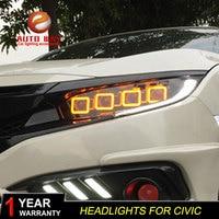 Car Styling Head Lamp case for Honda Civic 2016 2018 Headlights G10 MK10 Bugatti Headlight DRL Lens Double Beam Bi Xenon HID