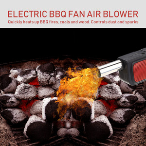 Image 5 - Sopladores de aire Ventilador de barbacoa, bentilatador eléctrico de mano, fuelle para barbacoa, exterior, Camping, Picnic, barbacoa, herramienta de cocina