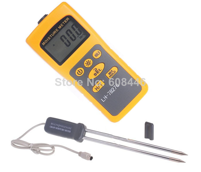 Hot Grain Moisture Meter Rice Corn Wheat moisture tester 2% - 31% thermometer 14-140Fahrenheir 2in1 36 Kinds free shipping am 128g grain moisture meter wheat corn soy coffee grain moisture tester range 7 30%