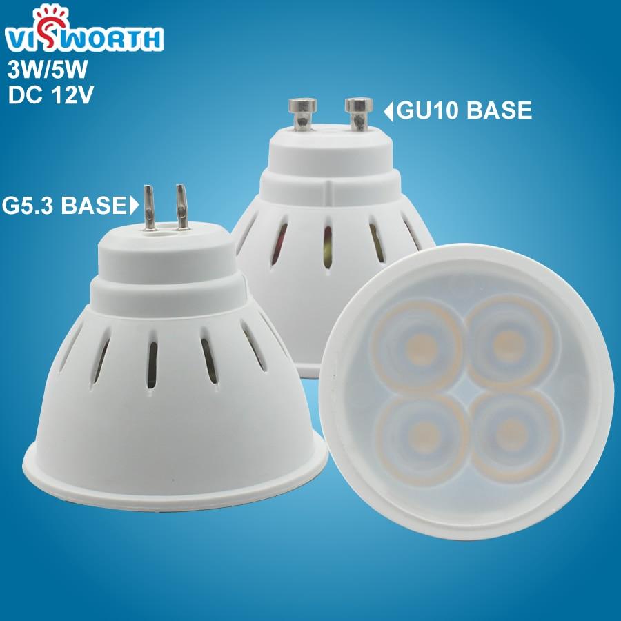 GU10 Led Spotlight 3W 5W G5.3 Led Lamp Smd2835 Mr16 Led Lighting Ac Dc 12V Warm Cold White Led Bulb For Downlight Table Lamp
