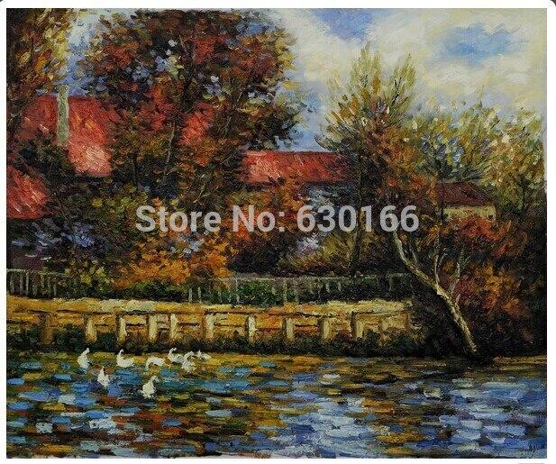 Paysage toile peinture-l'étang de canard par Pierre Auguste Renoir peinture à la main pour décoration mur Art