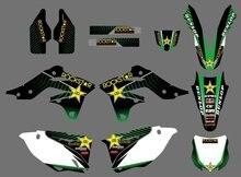 Nuovo Stile 0437 Star TEAM GRAFICO e SFONDI AUTOADESIVI DELLE DECALCOMANIE Kit Fit per KX250F KXF250 2013-2014