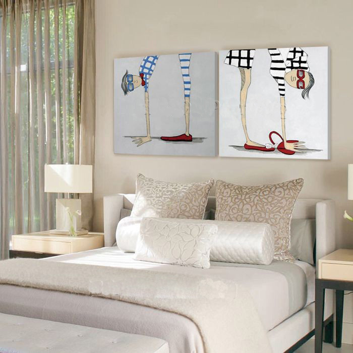 Free Shipping Big Size Modern Abstract Bedroom Living Room