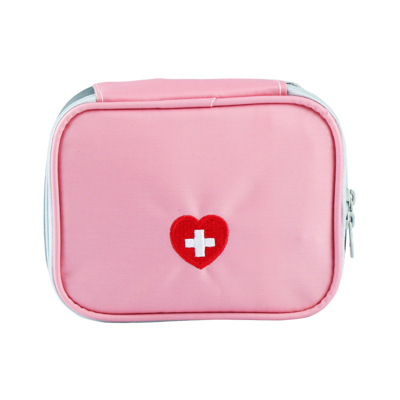 Pink Gray Travel Mini First Aid Kit Bags Survival Emergency Kit Pill Storage Bag Waterproof Nylon Outdoor Medicine Bag kitcox70427fao4001 value kit first aid only inc alcohol cleansing pads fao4001 and glad forceflex tall kitchen drawstring bags cox70427