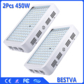 2PCS USA/DE/AU/UK  Stock 100% Warranty  450W Full Spectrum With IR&UV LED grow light for  Medical  Plants Grow &Bloom