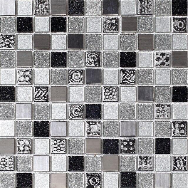 Nuevo diseño de plata cristal del azulejo polvo gris mosaicos arte ...