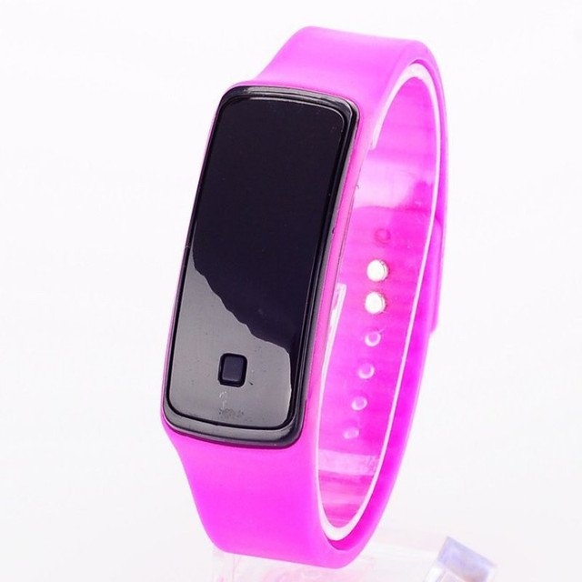 New Silicone Watchband Women Men LED Digital Screen Watch Dress Sports kids Watc