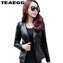 TAEGG Black PU Female Leather Jackets Plus Size 5XL Faux Leather Jacket Women Jaqueta Couro Feminina Chaqueta Cuero Mujer AL19