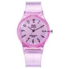 Новые модные блестящие прозрачные маленькие женские часы Harajuku, водонепроницаемые спортивные милые детские кварцевые часы для девушек
