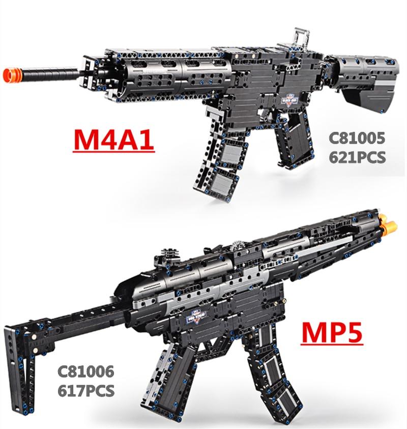 617 pièces MP5 mitrailleuse et M4A1 Airsoft Air Guns bloc de construction brique armes pistolet Sniper fusil CS jouet pistolet livraison directe