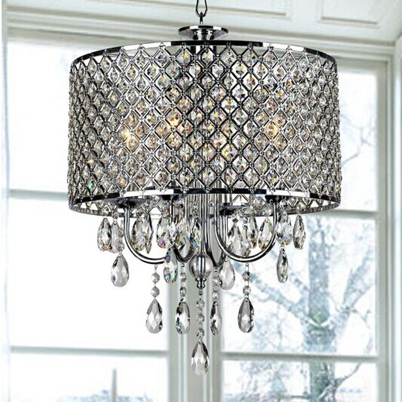 Modern Round LED Crystal Chandelier For Living Room Creative Hanging Ceiliing Chandelier Light Fixtures Fitting Lustre Lighting modern crystal chandelier led hanging lighting european style glass chandeliers light for living dining room restaurant decor